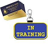 """WORKINGSERVICEDOG.COM Service Dog """"in Training"""" - Clip On Identification Patch Tag - Includes Five Service Dog Handout Cards - Clips onto a Service Dog Vest, Harness, Collar, Leash or Carrier"""