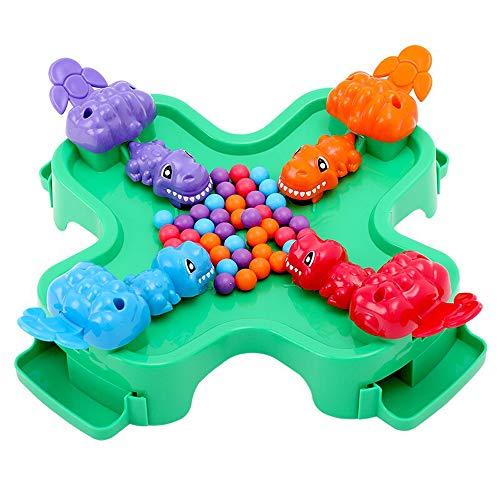 Brigamo Dino Schnapp Kinderspiel, lustiges Dinosaurier Gesellschaftsspiel für 4 Spieler, Spiele ab 4 Jahren