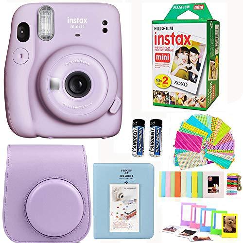 Fujifilm Instax Mini 11 Lilac Purple Camera with Fuji Instant Film Twin Pack (20 Pictures) + Purple...