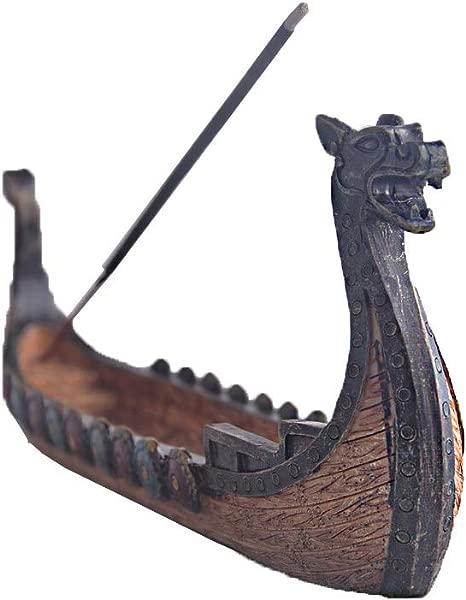 STAR TOP Dragon Incense Stick Hoer Burner Chinese Design Dragon Boat Incense Stick Holder Burner Hand Carved Carving Censer Ornaments