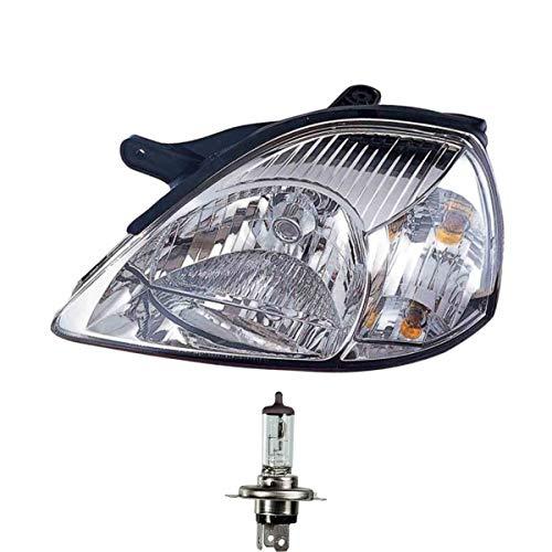 Halogen Scheinwerfer links H4 für Rio Stufenheck Kombi inklusive OSRAM Lampen mit Stellmotor LWR