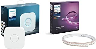 Philips Hue LightStrip Plus Dimmable LED Kits(Compatible with Amazon Alexa, Apple HomeKit, and Google Assistant) (Renewed) (Lightstrip Plus