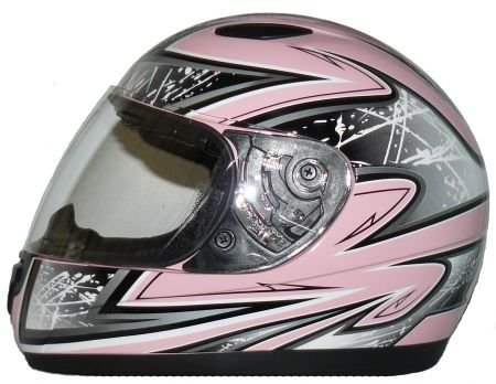 Protectwear SA03-PK-XXXS Kinder Motorradhelm, Integralhelm, Größe XXXS (Youth S), Pink/Silber