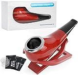 Piccola Tobacco Pipa, Joyoldelf Tabacco per Pipa con Supporto per Pipa Pieghevole e Schermo di Metallo