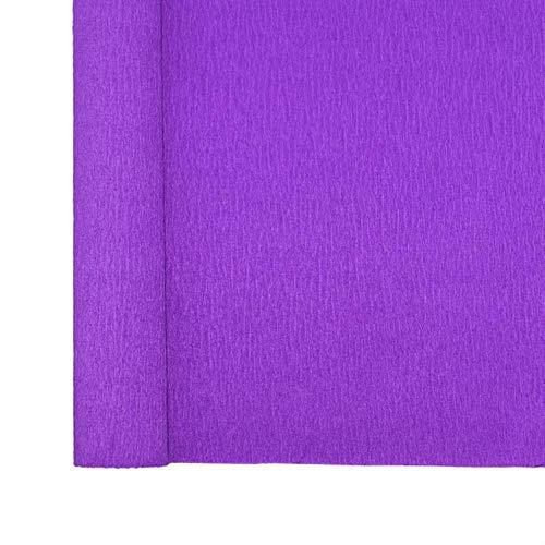 LINL 250cm 10/15/25 / 50cm Breite Krepppapier DIY Blumen-Wrapping für Hochzeit Geburtstag Partei-Dekoration Geschenk-Verpackung Craft gekrümmtes Papier,P10 Violett,50cm x 250cm