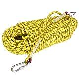 Alomejor Cuerda de Escape de Escalada al Aire Libre de 30 m Cuerda de Yute de Escalada con diámetro de 12 mm para Escalada Alpinismo(Yellow)