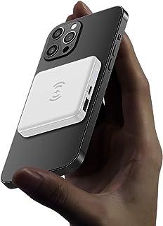 マグネット式 ワイヤレス モバイルバッテリー Mag-Safe 5000mAh携帯モバイルバッテリー 小型iphone バッテリー USB C 急速充電充電器 For iPhone 12/12 Mini/Pro/Max 日本語説明書付き