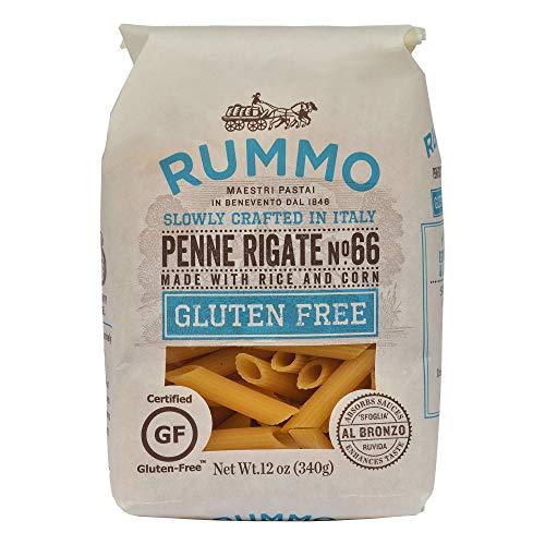 Rummo Italian Pasta GF Penne Rigate No.66, Always Al Dente, Certified Gluten-Free (16 Pack, 12 Ounce Each)