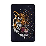 ALAZA U Life Tiger Soft Fleece Throw Blanket Blankets for Nap Couch Sofa Bed Kids Men Women 60 x 90 inch