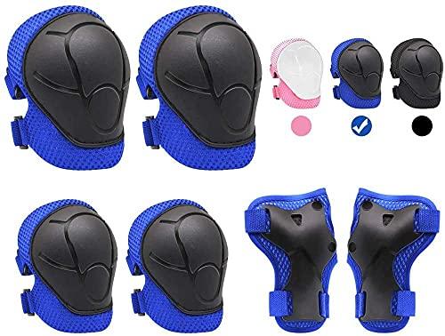 6 Ciclismo conjunto de engranajes protectores almohadilla de los niños almohadilla de pulsera almohadilla de pulsera almohadilla protectora del almohadilla de protección anti-arena Cresas antideslizan