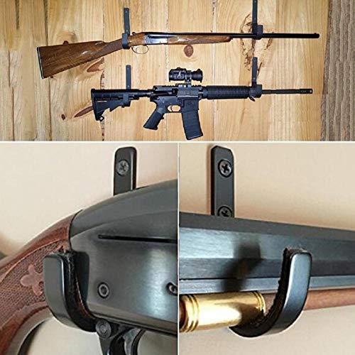 NO LOGO L-Yune, 1 Paar Gun Wandhalterung Storage Rack J-Haken Gewehr Shot Gun Kleiderbügel Set Anti-Scratch New Edelstahl Gun Rack-Hoch Menge
