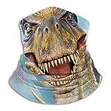ShiHaiYunBai Halstuch/Kopftuch Fleece Neck Warmer - Dinosaurs Selfie Neck Gaiter Tube, Bandana, Headband & Beanie