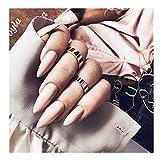 FstrendFstrend - Juego de 24 uñas postizas de acrílico con punta de uñas postizas punk para mujeres y niñas, Rosado, 1.00[set de ]