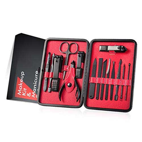XUEE Manicure Set, Mannen Travel Manicure roestvrij staal Professionele Pedicure Set Travel Grooming Kit Gift voor Man