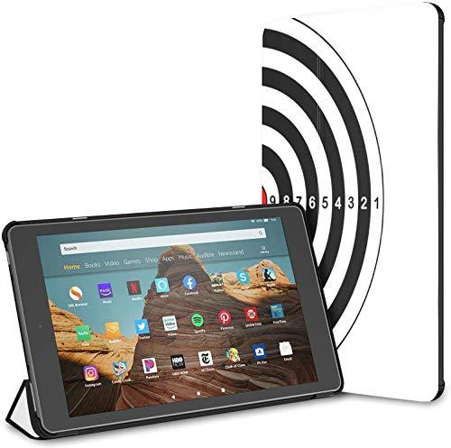 Funda para Campo de Tiro Target Shot Rifle Fire HD 10 Tablet (9a / 7a generación, versión 2019/2017) Fire Case HD 10 Funda para Tableta Kindle Auto Wake/Sleep para Tableta de 10.1 Pulgadas