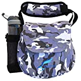 Kestrel Disc Golf Bag | Fits 6-10 Discs + Bottle | for Beginner and Advanced Disc Golf Players | Extremely Durable Canvas | Disc Golf Bag Set | Small Disc Golf Bag (Gray Camo)