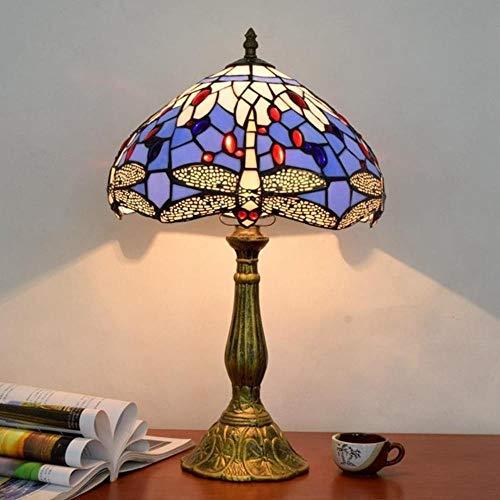 Lámpara de mesa Tiffany de 30 cm Lamapeulfly creativa, lámpara de mesa creativa, lámpara de mesa retro E27