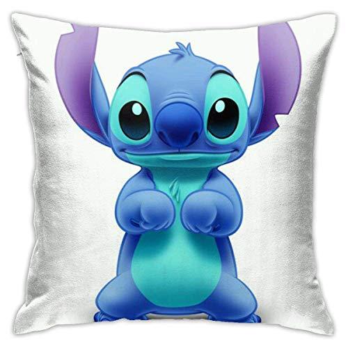 huancheng Happy Acting Cute Lilo Stitch - Fundas decorativas de algodón para sofá, cama, fundas de cojín suaves