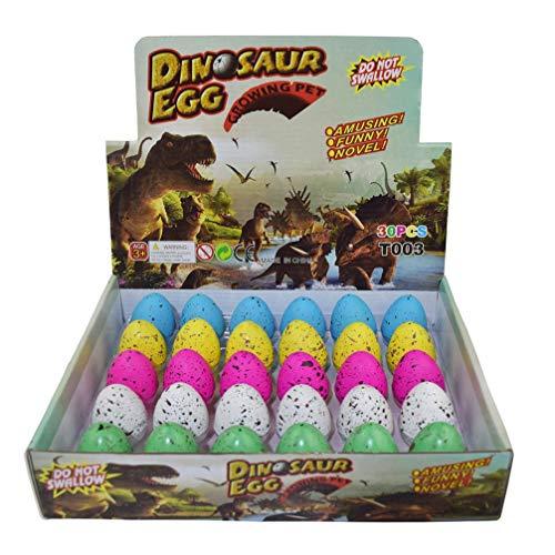 Wenosda Dinosaurier Eier Spielzeug Neuheit Brut Dinosaurier Ei für Kinder Große Größe Packung 30 stücke (Punkt Farbe)