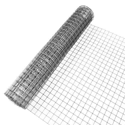 INDUTEC 4eck-Geflecht Drahtgitter Volierendraht - verzinkt - MW: 12,7mm | DS: 1,05mm | B: 1000mm | 5m Rolle
