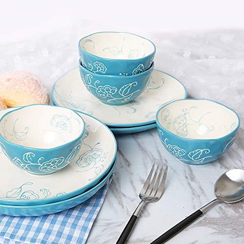 Vajilla,mariposas,vajilla,cubertería,personalidad,platos de cerámica del hogar,juego deplatos,28 piezas