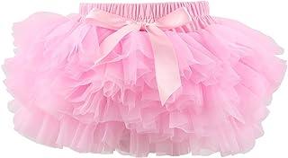 Slowera Baby Girls Soft Tutu Skirt (Skorts) 0 to 36 Months (M: 6-12 Months Pink)