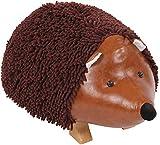 Taburete En Forma De Animal Iringa I Taburete Otomana Infantil Tapizado En Felpilla I Puff Reposapiés En Forma De Erizo I Color: marrón