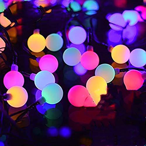 FANSIR Solar String Lights Garden, 23ft 50 LED Globe String Lights Outdoor Solar Powered Fairy Lights Waterproof 8 Modes Mini Ball Decorative Light for Garden Patio Yard Home Party, Multicolor