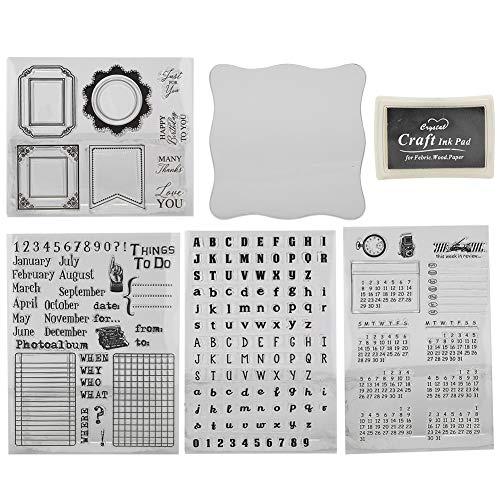 Sello de silicona transparente Sello de sello claro Franqueo y sellos para hacer tarjetas Decoración y Scrapbooking