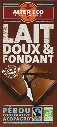 Alter Eco Tablette de Chocolat Lait Fondant Bio et Equitable 100 g