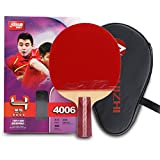 DHS 4-Star Table Tennis Racket Ping Pong Paddle 4006 (Short-handle) Double Pimples-in Bats