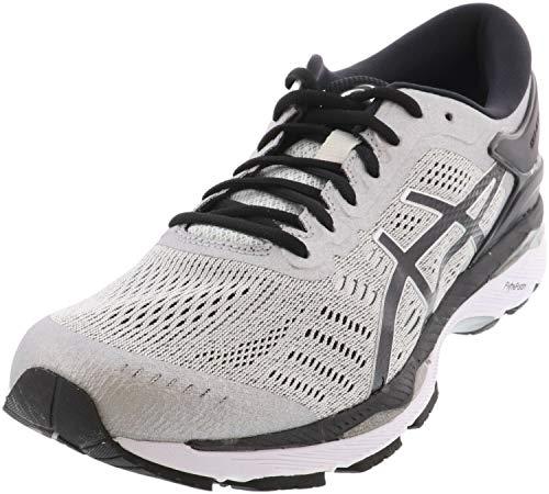 ASICS Mens Gel-Kayano 24 Running Shoe, Silver/Black/Mid Grey, 8 4E US