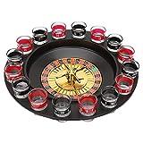 Honeyhouse Beber Ruleta, Shot Roulette Spinning Juegos para Beber Juegos de Fiesta (Incluidas 2 Bolas y 16 Vasos)