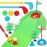 KX-YF Jouets De Golf Set Golf Clubs for Enfants Body Double Jeu interactif de l'épaule Balle Sport Fitness Equipment Sport De Golf Intérieur Extérieur (Color : Photo Color, Size : 144x35x25cm)