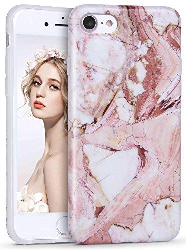 Imikoko® Hülle für iPhone 6/6S Marmor Matt Weich Silikon Handyhülle