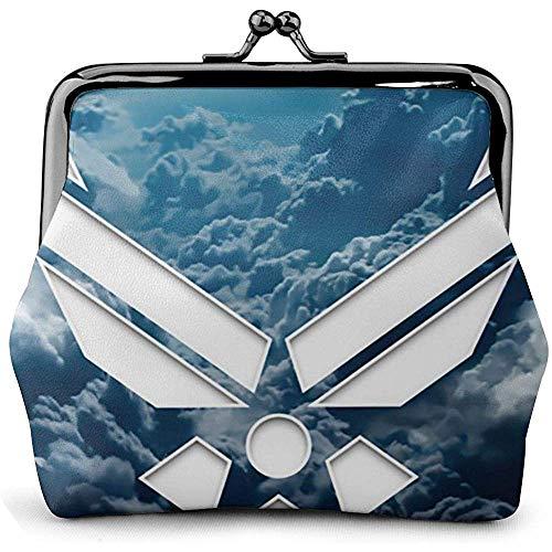 US Air Force leren portemonnee UU. Besos luiertas sluiting vintage gesp portemonnee klein cadeau voor dames