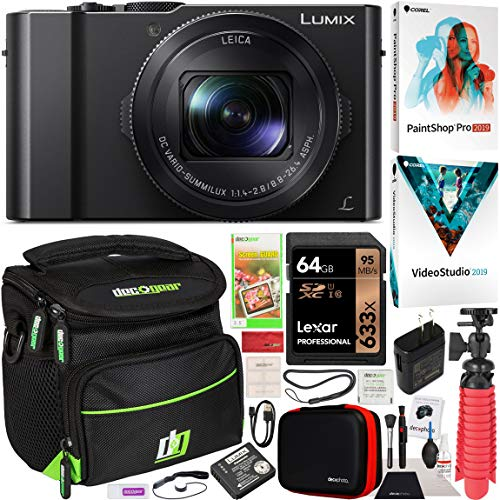 Panasonic LUMIX LX10 4K Digital Camera with 3X...