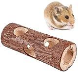 EliteJJ Tunnel des Animaux en Bois Hamster Tube Exercice Jouet à mâcher for Lapin Ferret Guinée Cochon (Color : L)