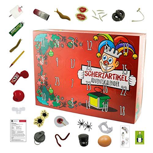 NEU! SCHERZARTIKEL Adventskalender für Kinder - Lustige Überraschungen für Jungen und Mädchen ohne Schokolade, Weihnachtskalender für Kids und junge Erwachsene mit spaßiger Füllung zum Advent
