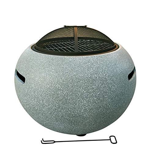 DTLEO Außen Feuerstelle Schüssel mit Grill Multifunktional Feuerschale Feuerstelle Fire Pit Grillstelle Feuerkorb mit Grillrost Funkenschutz