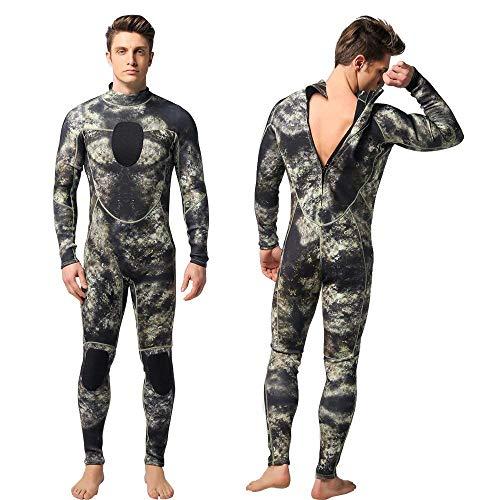 Movigor Herren-Neoprenanzug, 1,5 mm, Tarnmuster, Ganzkörper-Tauchanzug, Einteiler, Spearfishing-Anzug für Männer, Camouflage, m