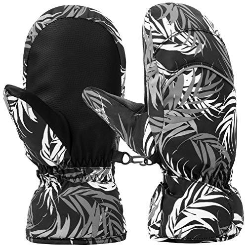 Respirant et Antid/érapante pour Fille Gar/çon de 6-10 Ans Ski Snowboard Randonn/ée et Cyclisme Coupe-Vent Eshall Gants de Ski Enfant avec Peluche Thermiques Gants Sport Hiver Impermeable