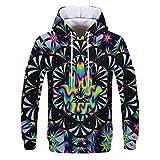 XIAOHU Sweatshirt 3D 3D Hoodies Herren/Damen Bunte Psychedelic Tie Dye Farbe 3D Print Herren Pop Hooded Sweatshirts
