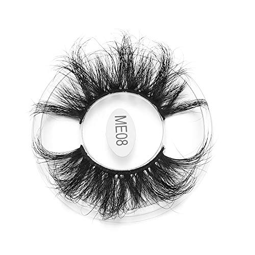 Shihao159 1 Pair False Eyelashes Faux Mink Eyelashes 25MM Makeup Tools Dramatic Long Wispies Fluffies Soft Thick Lash Extension 25MM Lashes(ME08)