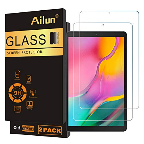 Ailun Screen Protector for Galaxy Tab A 10.1 2019 Release SM-T510/SM-T515 Only 2 Pack Tempered Glass 9H Hardness 2.5D Edge Ultra Clear Anti Scratch Case Friendly