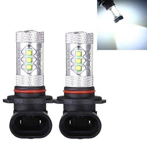 KaTur Lot de 2 projecteurs LED 9005 HB3 80 W Blanc pour voiture