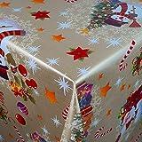 Wachstuch Wachstischdecke Tischdecke Gartentischdecke Weihnachten Zuckerstange Gold Breite & Länge wählbar 120 x 120 cm Eckig abwaschbar