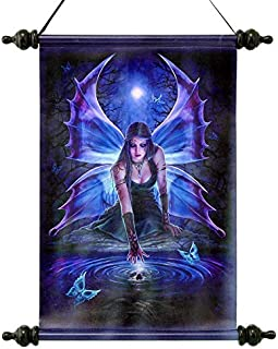 Design Toscano Immortal Flight Gothic Fairy Canvas Wall Scroll, Full Color