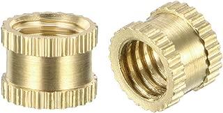 uxcell Knurled Threaded Insert, M6 x 6mm L x 8mm OD Female Thread Brass Embedment Nuts, Pack of 50