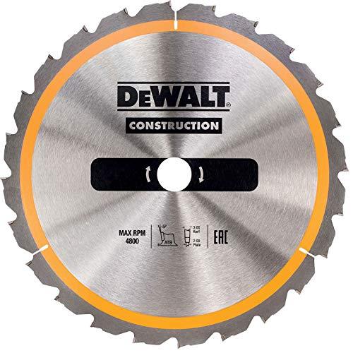 Dewalt DT1956-QZ DT1956-QZ-Hoja para Sierra Circular estacionaría 250x30mm 24D ATB +10º, 0 W, 0 V, talla única
